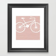 Pink Bike by Friztin Framed Art Print