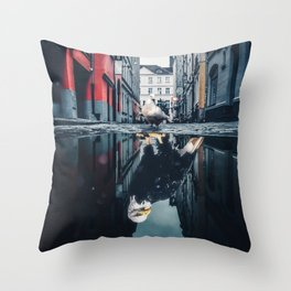 Are You a Pigeon or an Eagle by GEN Z Throw Pillow