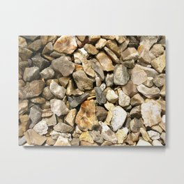 ROCK AND STONE CHIPPINGS GRAVEL TEXTURE Metal Print
