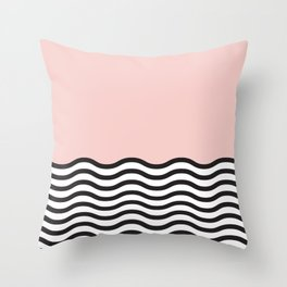 Waves of Pink Throw Pillow