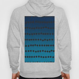 Ombre Blue Hawaii Ocean Gradient Duotone Spots Black Dots Hoody