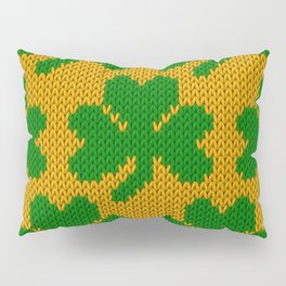 Shamrock pattern - orange, green Pillow Sham