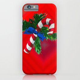Christmas Candy Cane iPhone Case