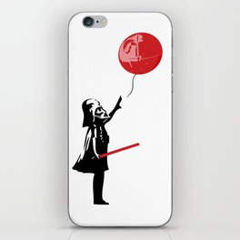 That's No Banksy Balloon (It's a Space Station) iPhone Skin