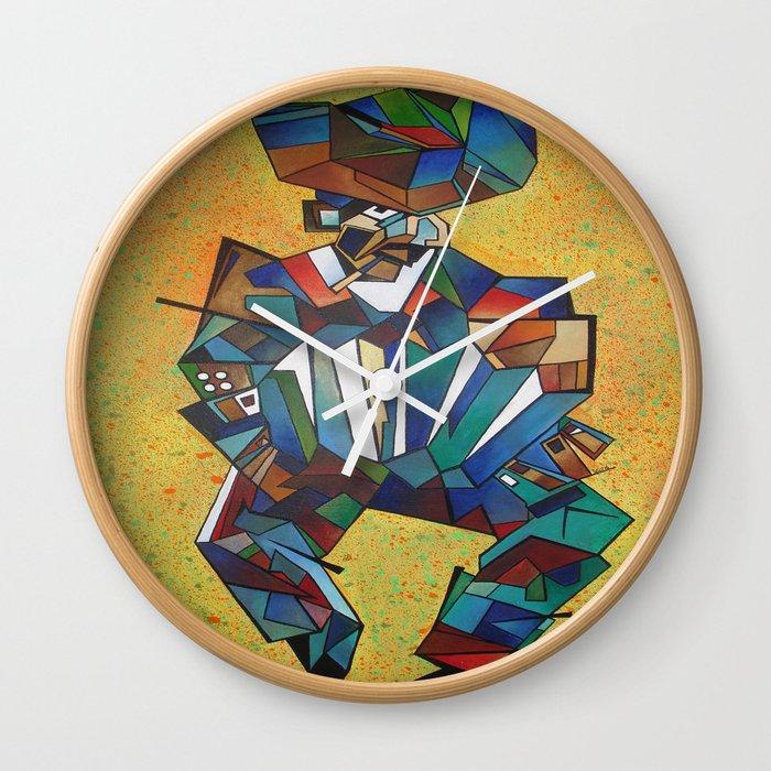 The Accordionist Wall Clock