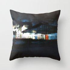 The Ice Docks Throw Pillow