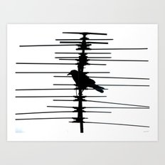 Electric Nature Art Print