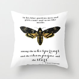 Among the whisperings and the champagne and the stars Throw Pillow