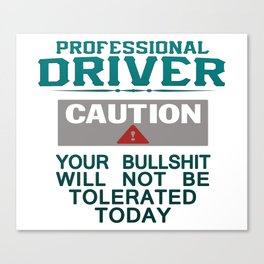 Truck Driver Safety Canvas Print