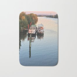 Boats on th Seine Bath Mat