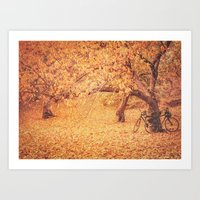 new york city Art Prints featuring Autumn - New York City by Vivienne Gucwa
