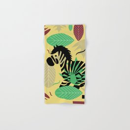 Zebra with leaves and dots Hand & Bath Towel