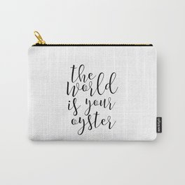 Printable Art The World Is Your Oyster Quote Wall Decor Scandinavian Art Nursery Digital Print Carry-All Pouch