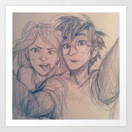 A Normal Couple Art Print