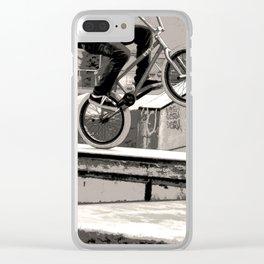 Wheelie Master  - BMX Biker Clear iPhone Case