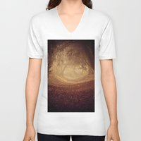 narnia V-neck T-shirts featuring Where's the white rabbit?  by Sparks of Fire
