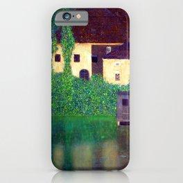 Gustav Klimt Unterach Manor iPhone Case