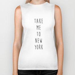 Take Me To New York Biker Tank