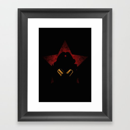 SuperHeroes Shadows : WonderWoman Framed Art Print