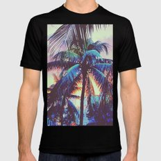 Miami Nights Mens Fitted Tee Black LARGE
