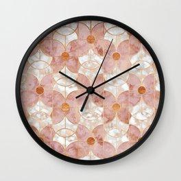 Rose Gold Art Deco Butterfly Pattern Wall Clock