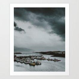 Iceland Port Art Print