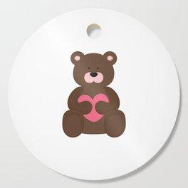 Cute Heart Teddybear Cutting Board