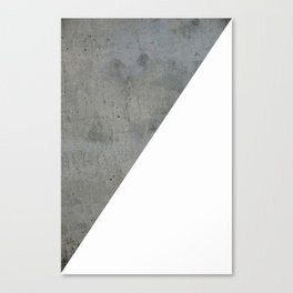 Concrete Vs White Canvas Print
