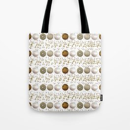 Modern white faux gold sequins geometrical dots stripes Tote Bag