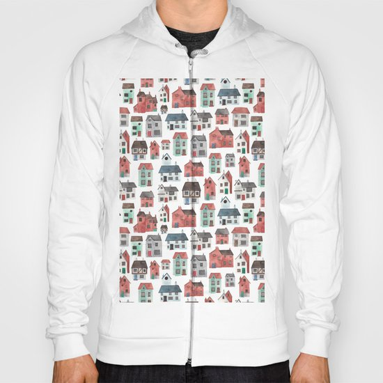 Watercolour Houses Hoody