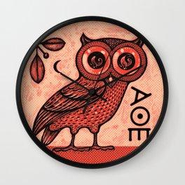 Athena's Owl Wall Clock