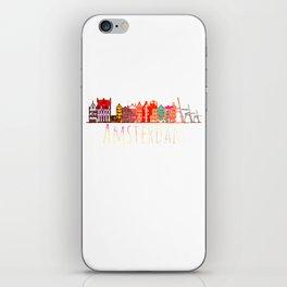 Amsterdam City Netherlands Souvenir Style Design iPhone Skin