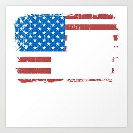 American Flag Drag Racing Art Print