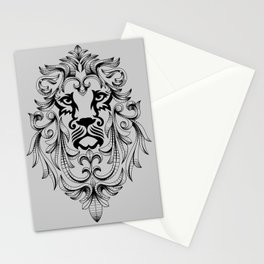Heraldic Lion Head Stationery Cards