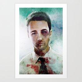 Edward Norton 'Tyler Durden' The Fight Club Art Print