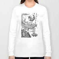 jazzberry Long Sleeve T-shirts featuring East of Blue Lake by Judith Clay