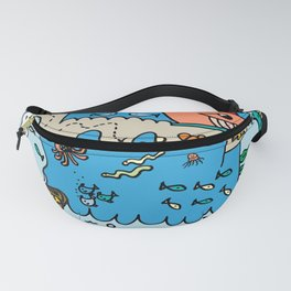 Sea Doodle World Animals by Pablo Rodriguez (Pabzoide) Fanny Pack