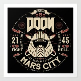 Doom - Fight Hell Art Print
