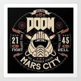 Doom - Fight Hell Art Print