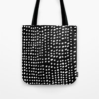 dots Tote Bags featuring Dots by Marie Yates
