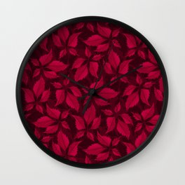 Autumn Leaves (Garnet) Wall Clock