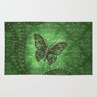 decorative Area & Throw Rugs featuring Decorative butterfly by nicky2342