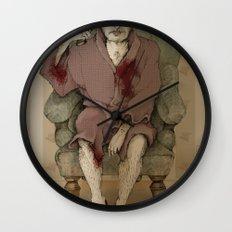 In bathrobe Wall Clock