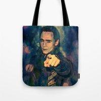 loki Tote Bags featuring Loki by Sirenphotos