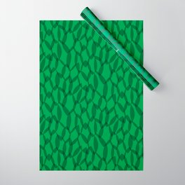 Overlapping Leaves - Dark Green Wrapping Paper