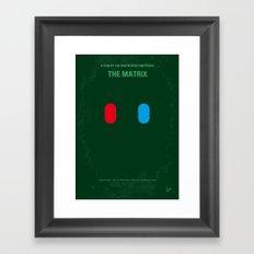 No093 My The Matrix minimal movie poster Framed Art Print