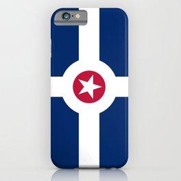 indianapolis city flag united states of america iPhone Case