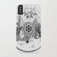 zentangle iPhone & iPod Cases featuring Zentangle by Alex Vladoiu