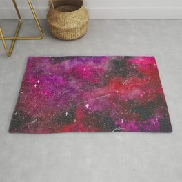 Deep pink, purple, and red galaxy Rug