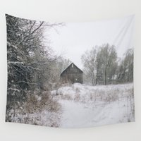 michigan Wall Tapestries featuring Michigan by Stephanie Berezecky